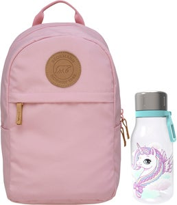 Beckmann Ryggsäck Mini Urban 10L & Flaska, Light Pink