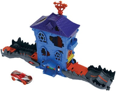 Hot Wheels City Lekset Nemesis Attack Croc Mansion