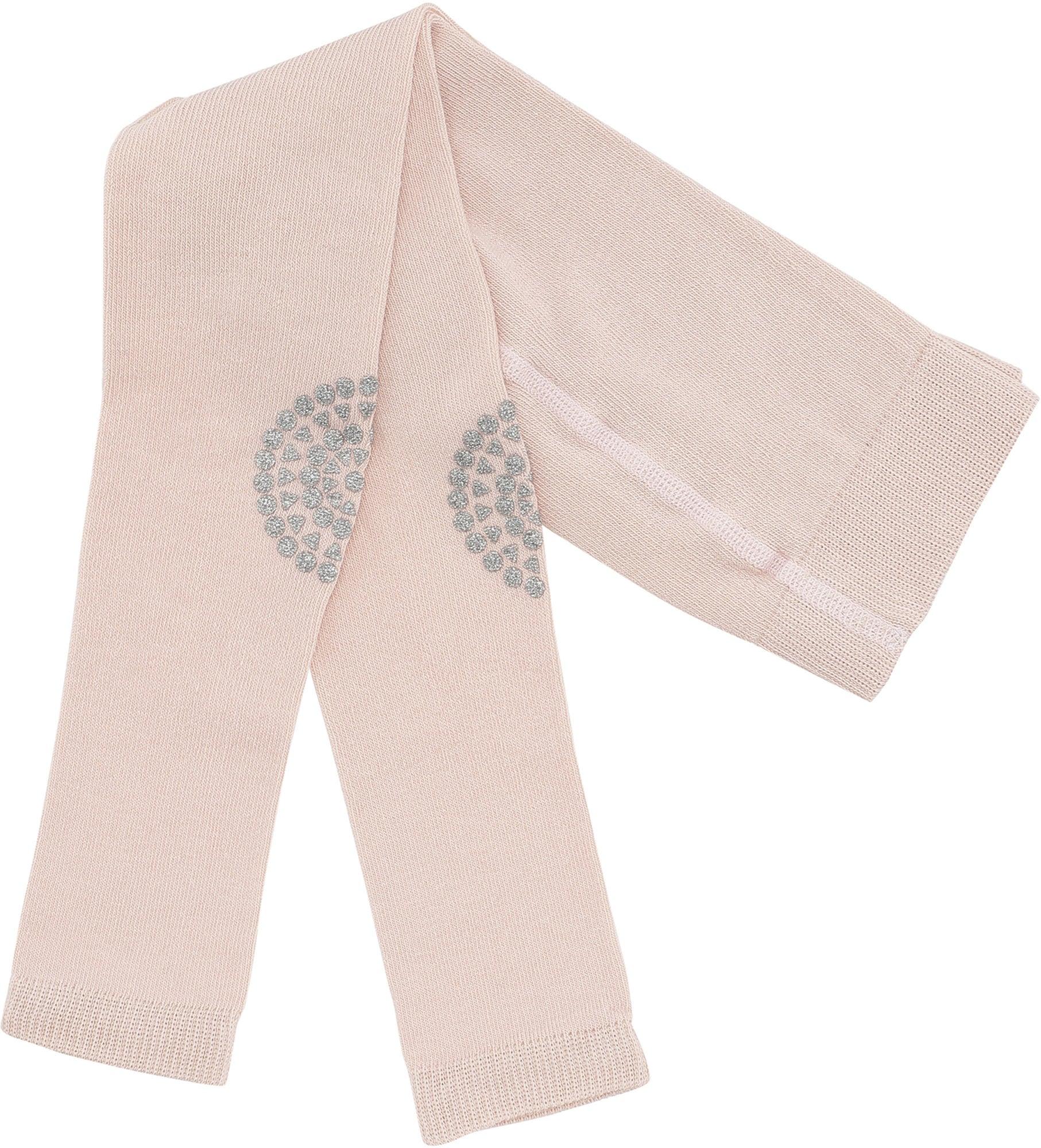 GoBabyGo Leggings för Krypning, Soft Pink Glitter 12-18 Månader