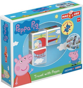 Geomag Byggsats Magicube Travel with Peppa