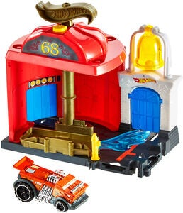 Hot Wheels City Downtown Lekset Fire Station Spinout