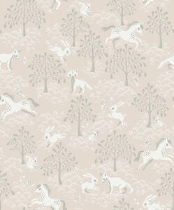 Littlephant Tapet Fairytale Fox, Rosa