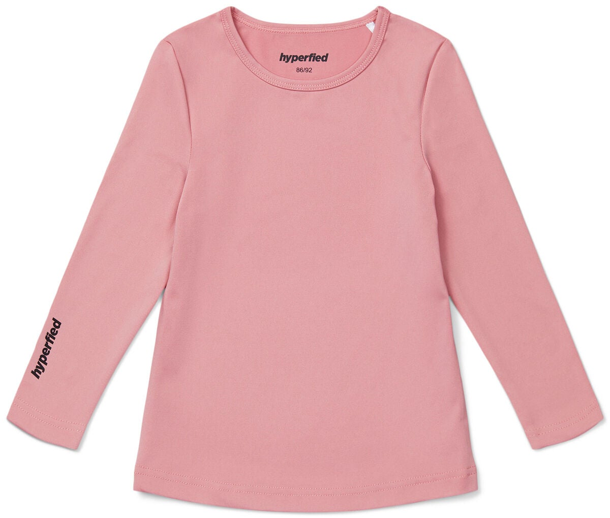 Hyperfied Long Sleeve Logo Top, Blush