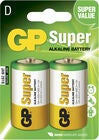 GP Batterier Super Alkaline D-Batteri 13A LR14 2-pack