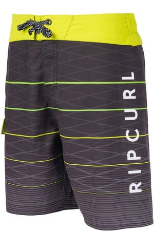 Rip Curl Shock Line Shorts, Black/Lime