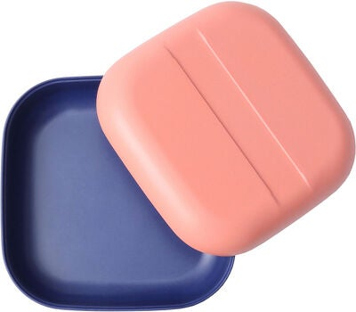 Ekobo Go Duo Color Snack Box , Coral/Royal Blue