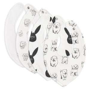 Tiny Treasure Sofia Bib 4-Pack, White