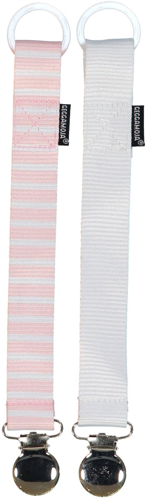 Geggamoja Napphållare 2-Pack, Rosa/Vit