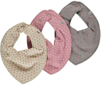Pippi Bib Scarf Rose 3-pack