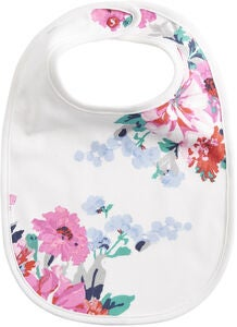 Tom Joule Bib, White Small Floral