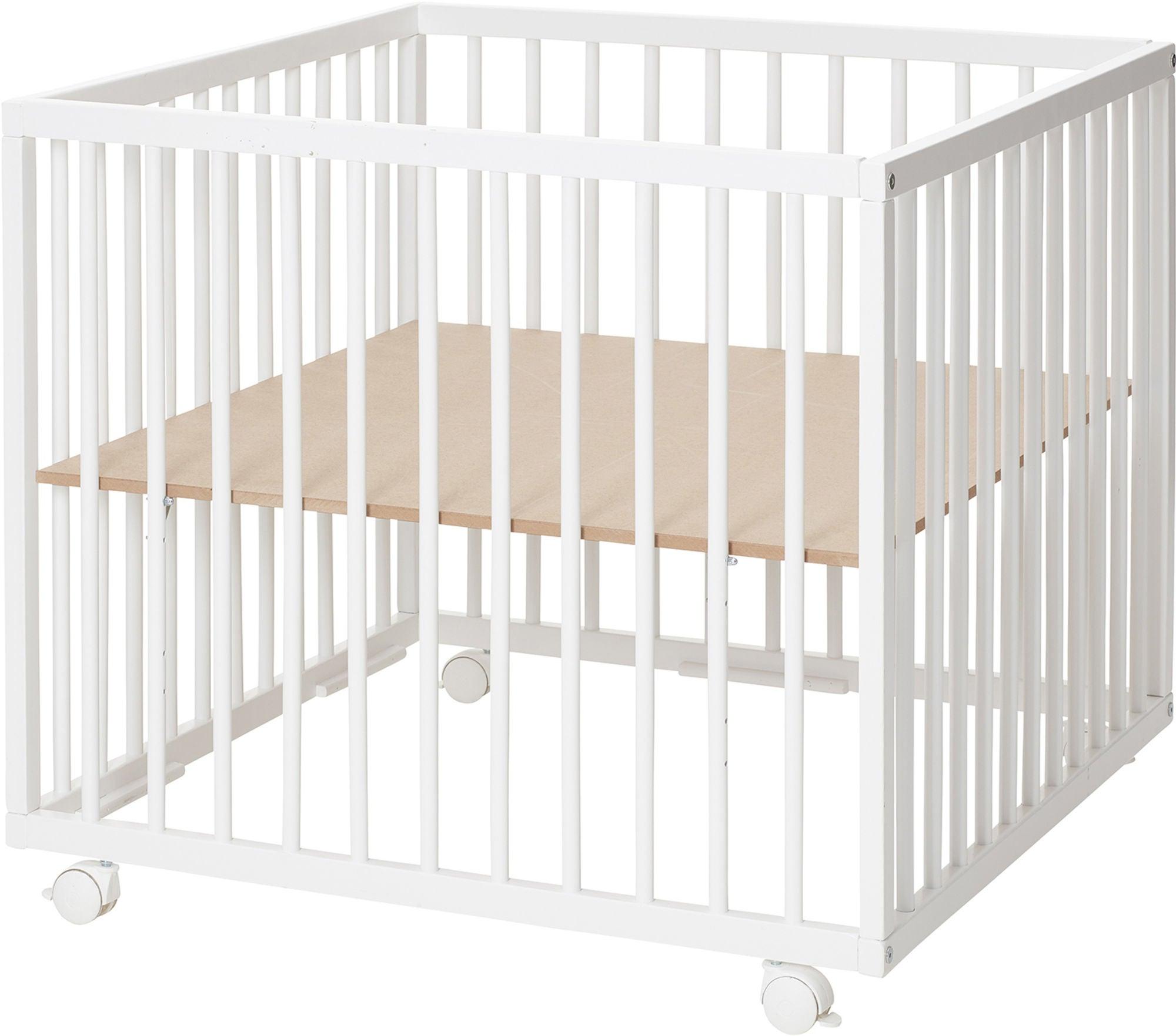 BabyDan Comfort Lekhage 80x80x73 cm, Vit