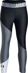 Under Armour HG Color Block Ankle Crop Legging, Stealth Grey