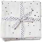 Done By Deer Muslinfilt Dreamy Dots 2-pack, White