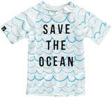 Beach & Bandits UV-Tröja Save the ocean, Vit