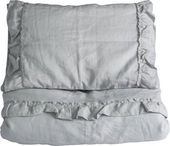 NG Baby Bäddset 80x70 Mood Ruffles, Light Grey