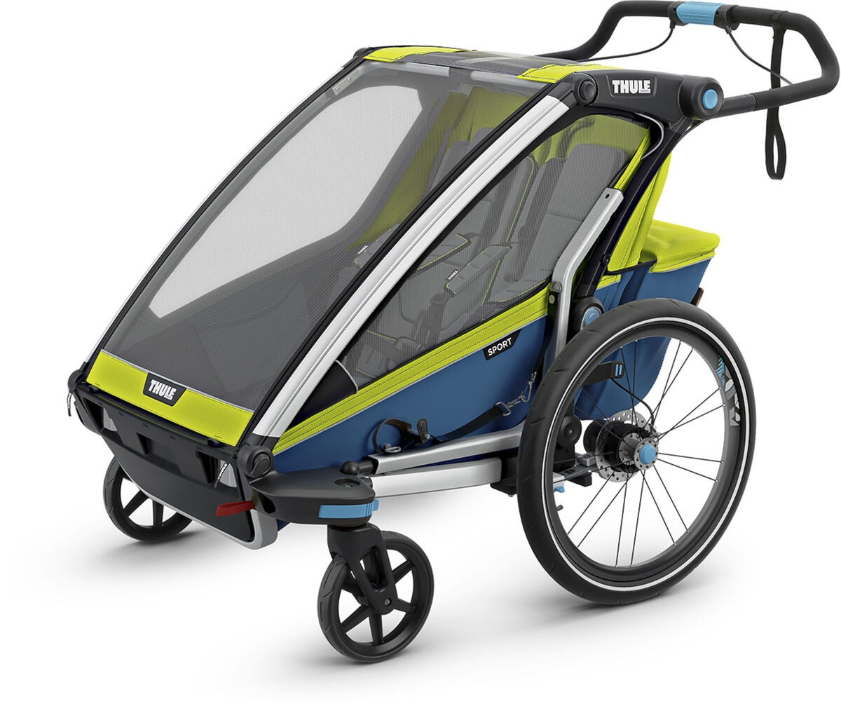 k p thule chariot sport 2 cykelvagn chartreuse jollyroom. Black Bedroom Furniture Sets. Home Design Ideas