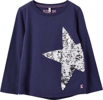 Tom Joule Ava Applique T-Shirt, Navy Star