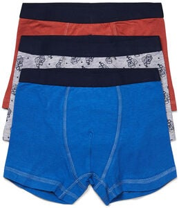 Luca & Lola Giacomo Boxerkalsong 3-pack, Blue/Orange