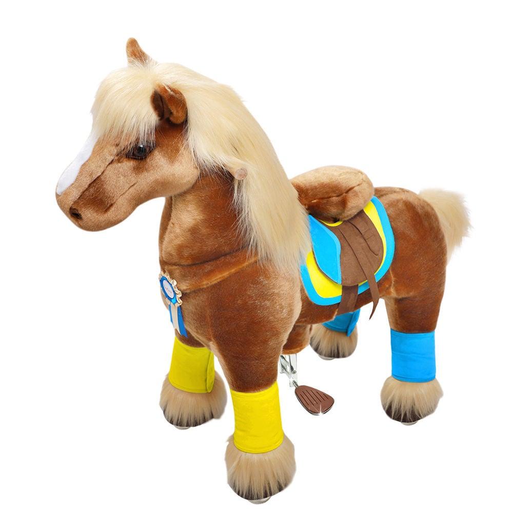 PonyCycle Ride-On Häst Premium Stor, Brun