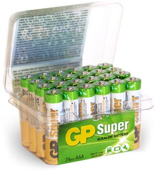 GP Batterier Super Alkaline AAA 24A LR03 24-pack