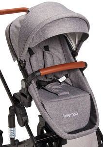 Beemoo Maxi 4 Syskonsits, Grey Melange/Black