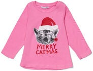 Luca & Lola Baby Topp Merry Catbaby, Pink