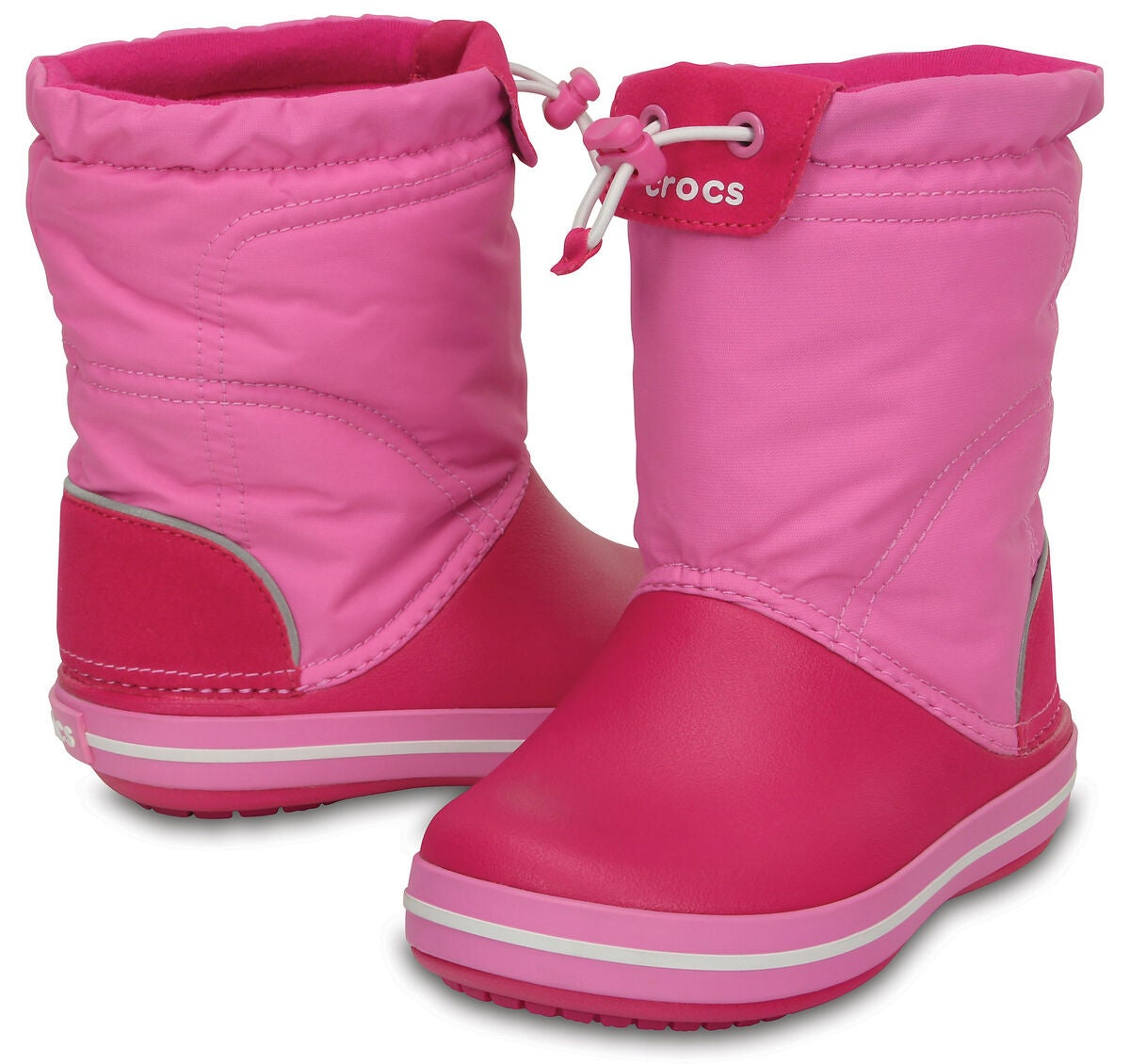 Köp Crocs Kids Crocband LodgePoint Boot, Candy PinkParty