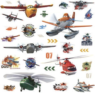 RoomMates Wallsticker Planes Fire & Rescue