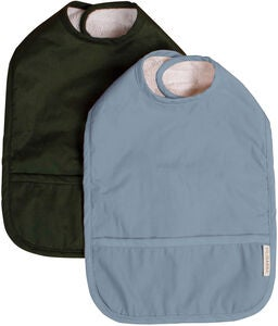 FILIBABBA Haklapp med Velcro 2-Pack, Powder Blue/Dark Green
