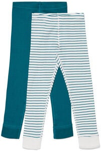 Luca & Lola Omero Långkalsong 2-pack, Green/Stripes
