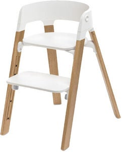 Stokke Steps™ Barnstol, White/Oak Natural