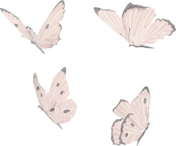 That's Mine Wallsticker Butterflies, White