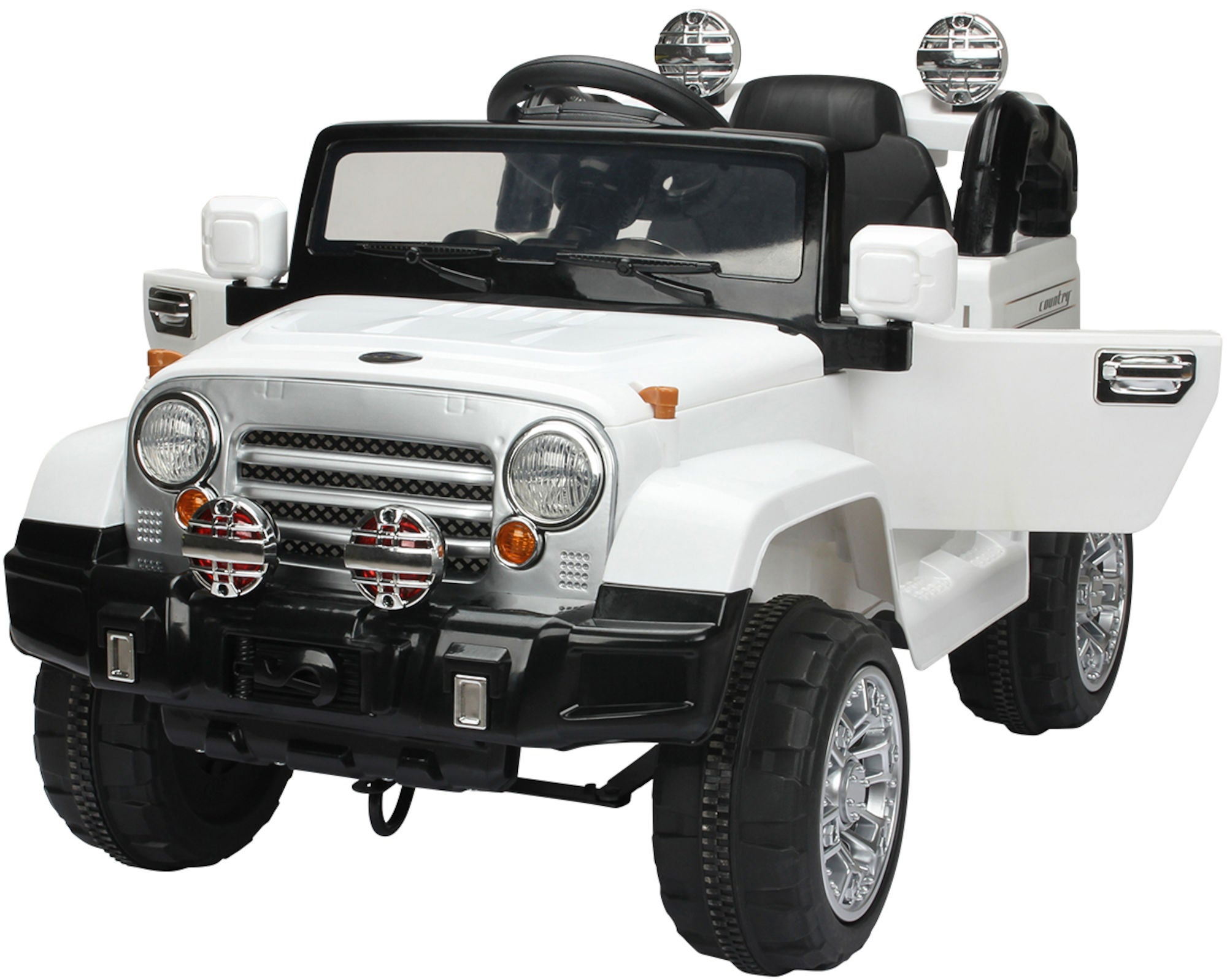 Alex Garage Elbil Jeep Vit