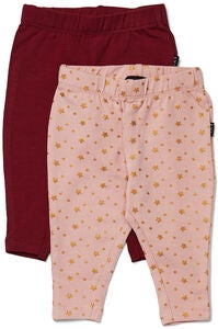 Luca & Lola Linda Leggings 2-pack, Wine/Pink