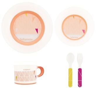 Babymoov Anti-Slip Feeding Set, Peach