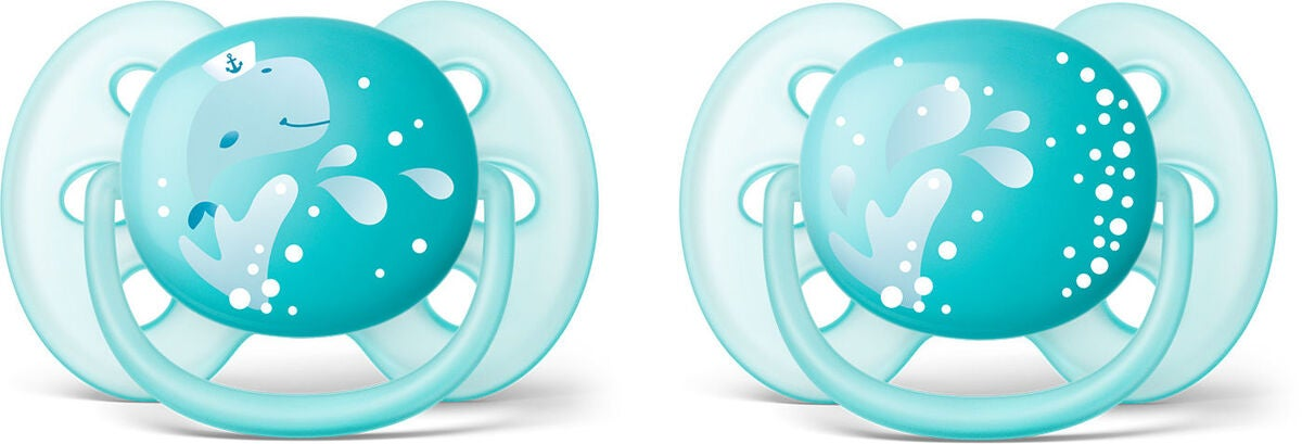 Philips Avent Ultra Soft Napp 6-18 m 2-pack, Turkos