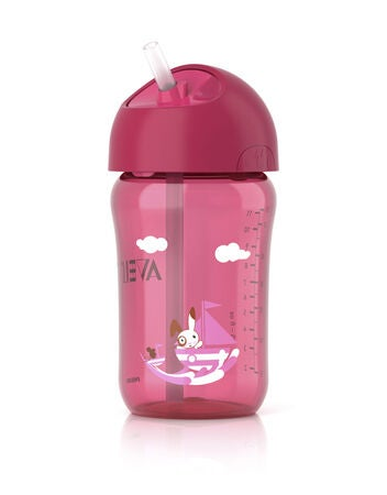 Philips Avent Sugrörsmugg 340ml Rosa