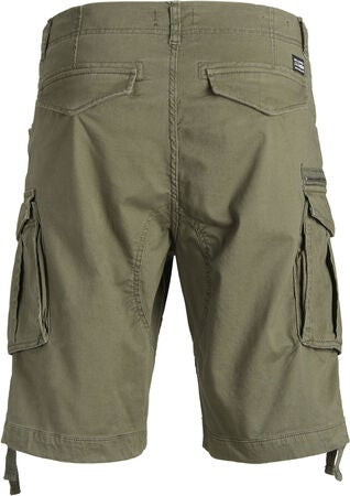 Jack & Jones Chop Cargo Shorts, Olive Night