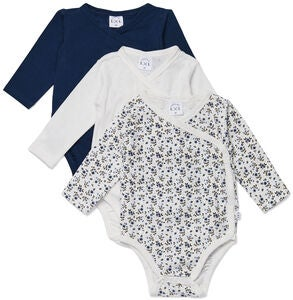 Luca & Lola Alexie Body 3-pack, Navy Flowers