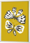 Littlephant Poster Graphic Print Butterfly Love 70x100, Yellow