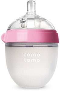 Comotomo Natural Feel Nappflaska 150ml, Rosa
