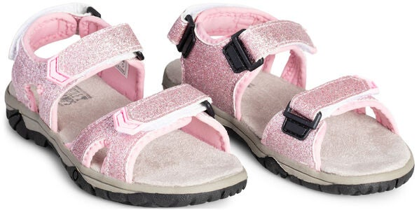 Little Champs Race Glitter Sandal, Pink