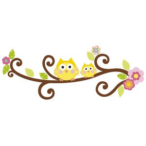 RoomMates Wallstickers Happi Letter Branch