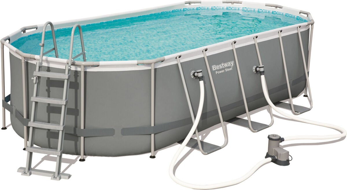 Bestway Power Steel Oval Pool m. Tillbehör 549 x 274