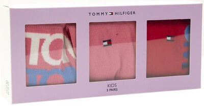 Tommy Hilfiger Kids Giftbox Strumpa 3-pack, Pink/Red