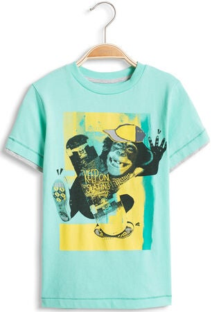 ESPRIT T-Shirt Cool Monkey, Light Aqua Green