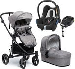 Beemoo Flexi Travel 3 inkl. Travelsystem Maxi Cosi, Grey Melange