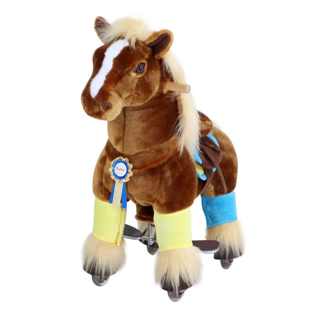 PonyCycle Ride-On Häst Premium, Brun