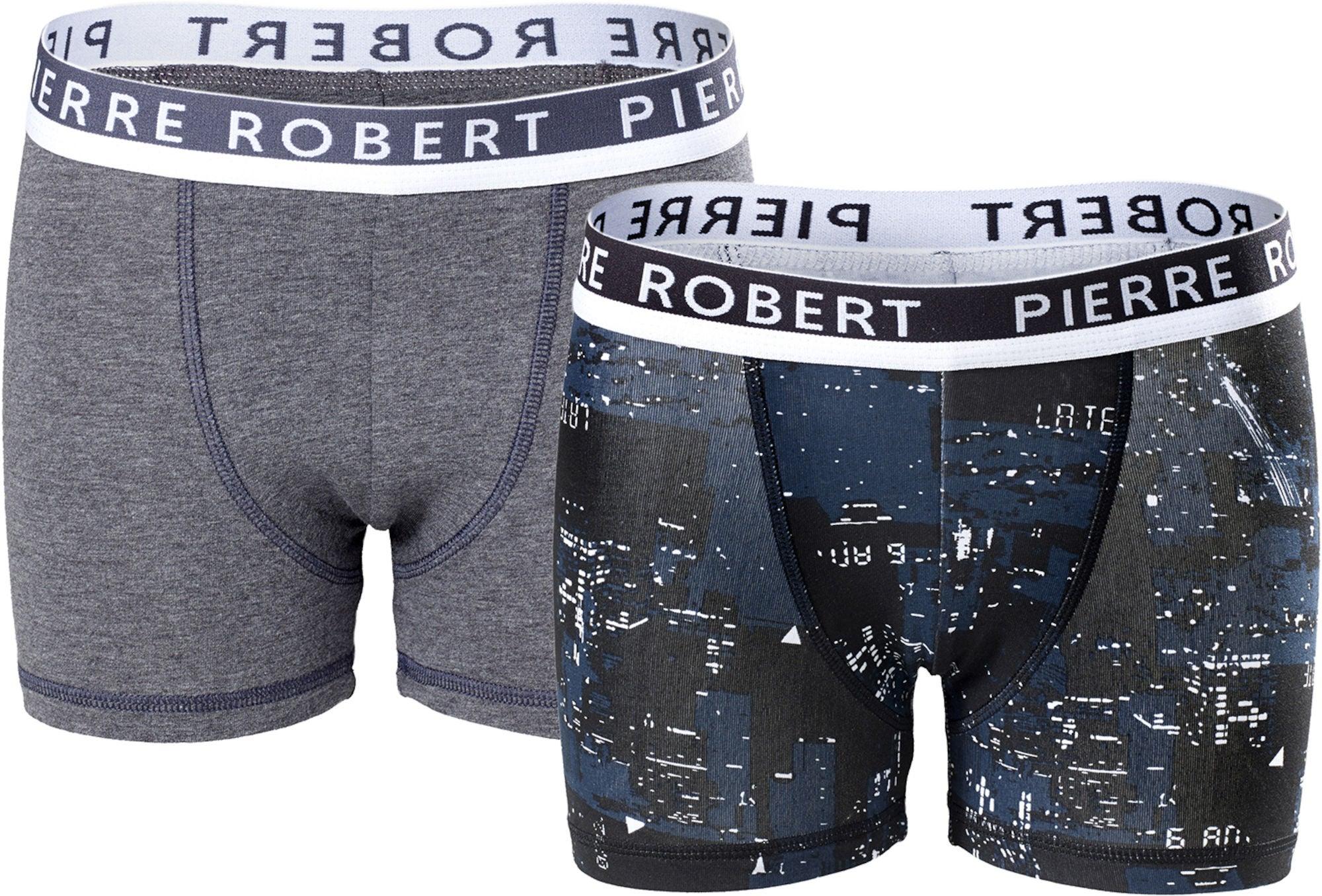 Pierre Robert Kalsong 2-Pack, Black/Grey 158 -164
