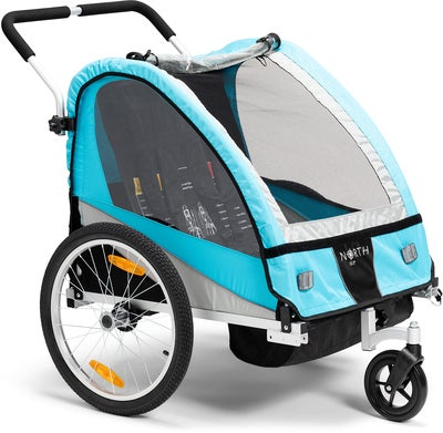 North 13.5 Roadster Cykelvagn Inkl. Promenadhjul, Blue